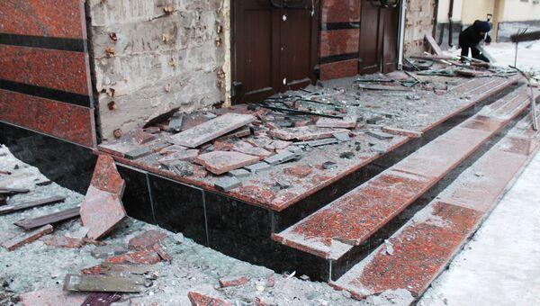Ситуация после обстрелов в Донецке. Архивное фото
