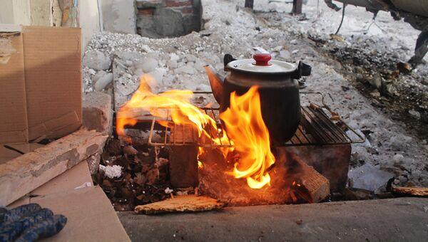 Ситуация после обстрелов в Донецке, архивное фото