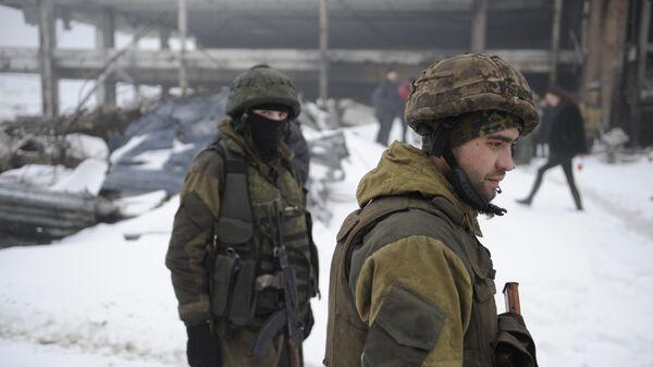 Бойцы ополчения Донецкой народной республики