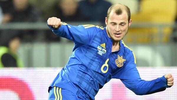 Игрок сборной Украины Роман Зозуля