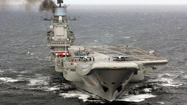 Тяжелый авианесущий крейсер Адмирал Кузнецов в Атлантическом океане