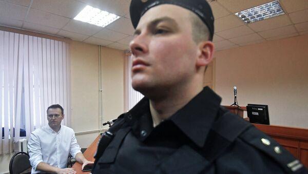 Алексей Навальный в Ленинском районном суде Кирова во время оглашения приговора по делу Кировлеса
