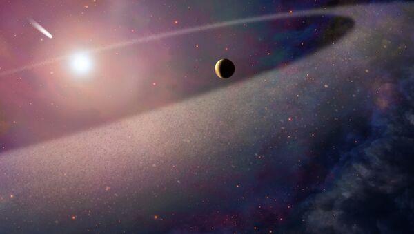 Так художник представил, как крупная комета летит к белому карлику