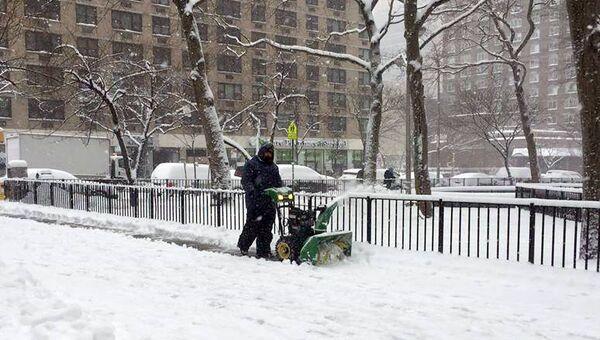 Зимний шторм в Нью-Йорке, 9 февраля 2017