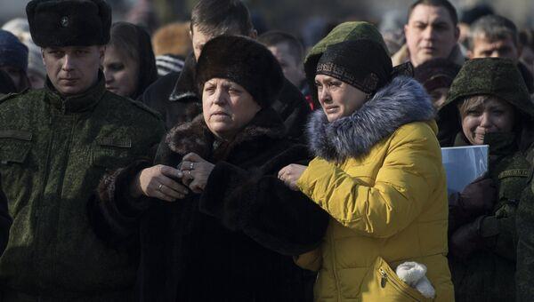 Сестра командира батальона ополчения ДНР Сомали Михаила Толстых (позывной Гиви) Марина Черноволова в Донецке