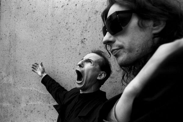Мамонов и Алексей, Москва, 1990