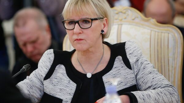 Министр иностранных дел Королевства Швеции Маргот Вальстрем. Архивное фото