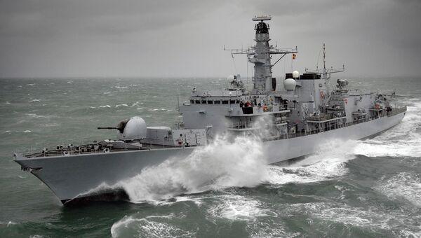 Фрегат типа 26 Kent Королевских ВМС Великобритании. Архивное фото