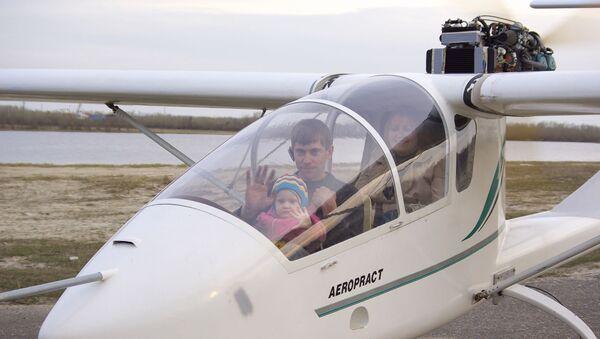 Сергей Шевчик – президент сургутской общественной организации Авиационный спортивно-технический клуб «ПОЛЁТ» - с семьей.