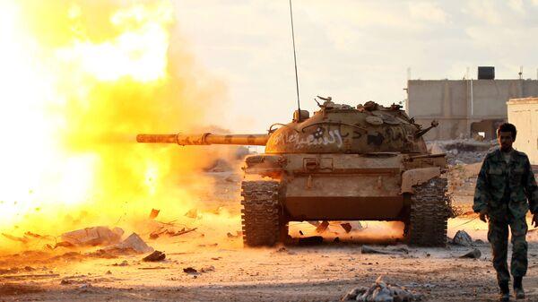 Правительственные войска в окрестностях Бенгази, Ливия. Архивное фото