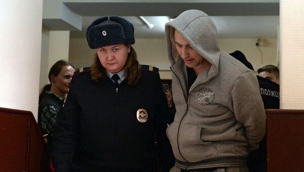 Лидер хакерской группы Шалтай-Болтай Владимир Аникеев в Лефортовском суде Москвы. Архивное фото