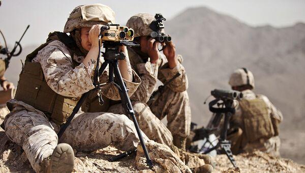 Женщина-военнослужащая из Корпуса морской пехоты США. Архивное фото