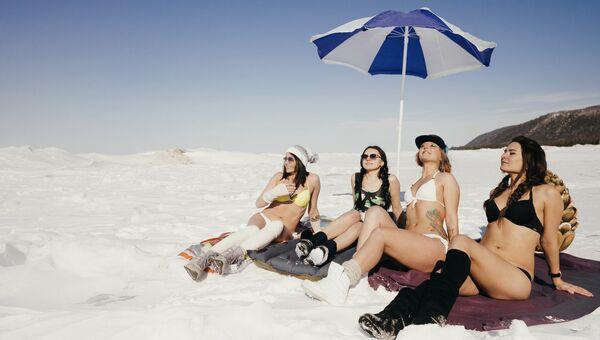 Белые пляжи Байкала