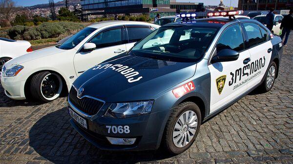 Автомобиль грузинской полиции в Тбилиси.