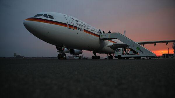 Самолет канцлера Германии Ангелы Меркель