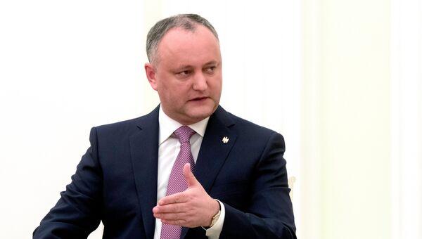 Президент Республики Молдова Игорь Додон. Архивное фото