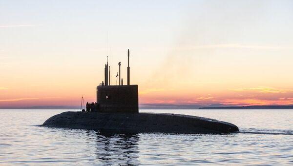 Заводские ходовые испытания подводной лодки. Архивное фото