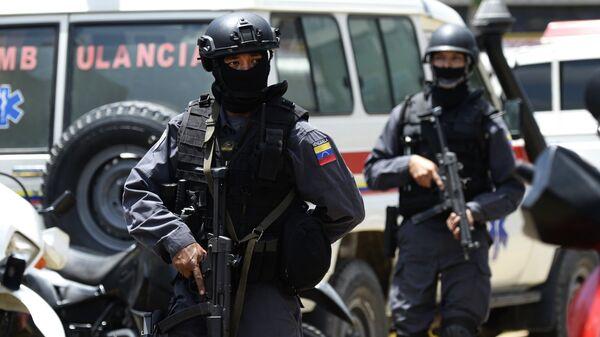 Сотрудники полиции Венесуэлы в Каракасе