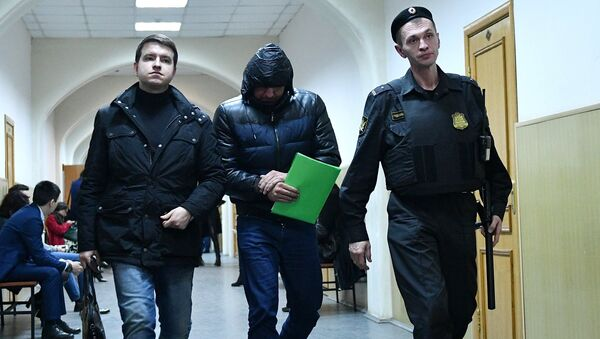 Фигурант дела о хищении бюджетных средств Дмитрий Торчинский в Басманном суде Москвы. 22 марта 2017