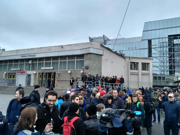 Взрыв на станции метро Сенная площадь в Санкт-Петербурге. 3 апреля 2017