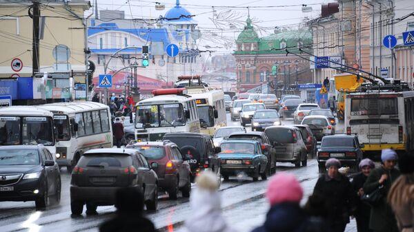Одна из улиц города Томск