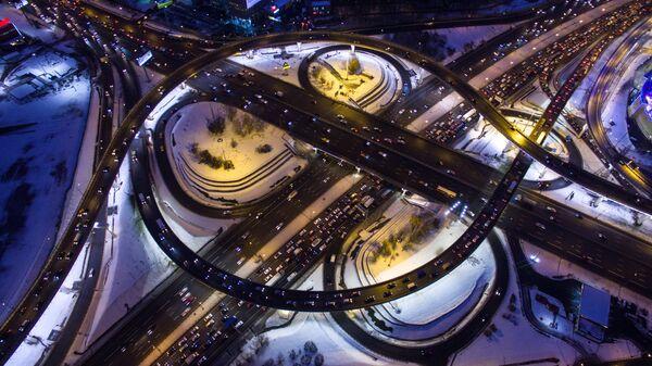 Автомобильная развязка на МКАД с Ленинградским шоссе