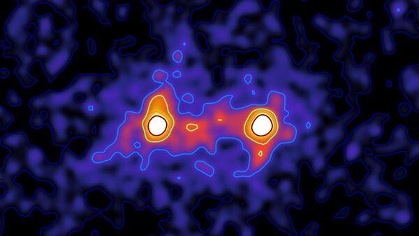 Нить темной материи, соединяющая галактики