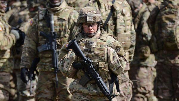 Американская военнослужащая. Архивное фото