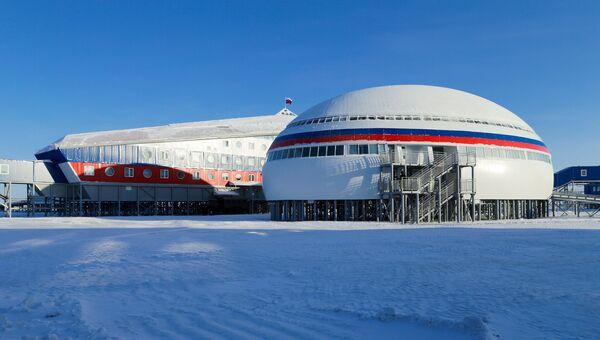 Российская военная база Арктический трилистник на острове Земля Александры архипелага Земля Франца-Иосифа