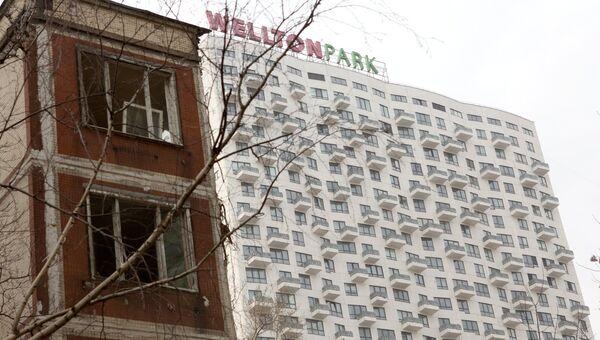 Снос жилого пятиэтажного дома на улице Народного ополчения в Москве. Архивное фото