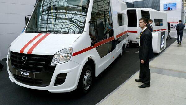 Стенд автомобильной компании Газ на XI всероссийском форуме Здоровье нации – основа процветания России в Москве