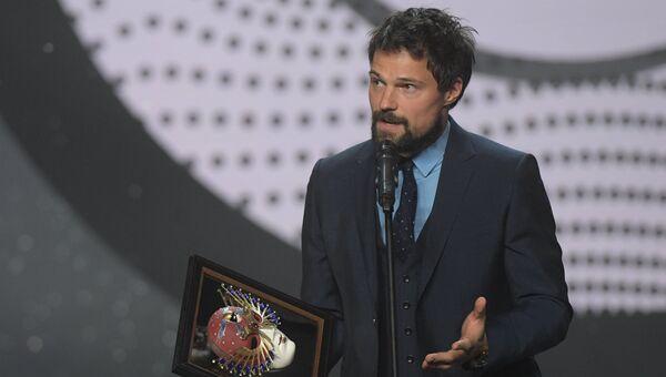 Актёр Данила Козловский, получивший награду в номинации Лучшая мужская роль в драме (Гамлет), театральной премии Золотая маска
