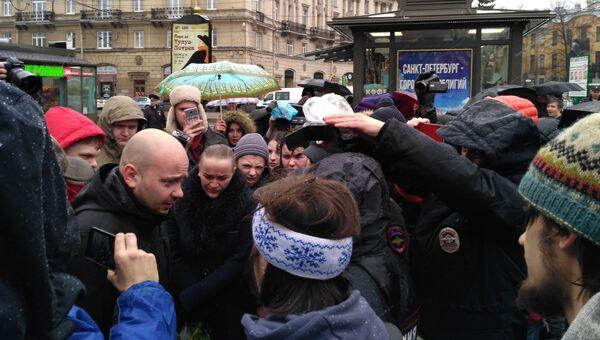 Несанкционированная акция в Санкт-Петербурге 29 апреля