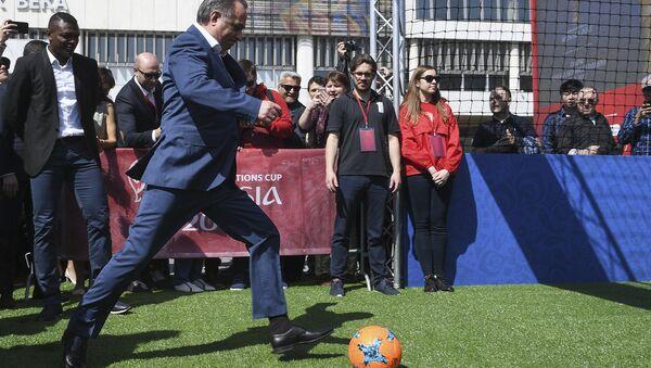 Заместитель председателя правительства РФ Виталий Мутко на церемонии открытия Парка Кубка Конфедераций 2017