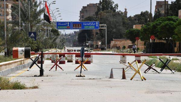 Улица в сирийском городе Дейр-эз-Зор