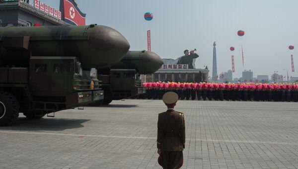 Пусковые установки межконтинентальных баллистических ракет КНДР. Архивное фото