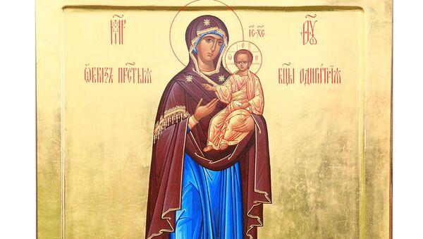 Икона Божией Матери Одигитрия Вяземская-Ратная
