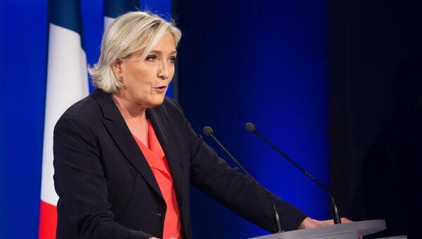 Лидер политической партии Франции Национальный фронт. Архивное фото