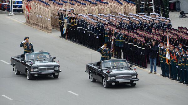 Военный парад в Новосибирске