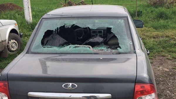 На месте нападения на пост полиции в Малгобекском районе Ингушетии