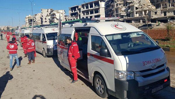 Машины Скорой помощи в Сирии. Архивное фото