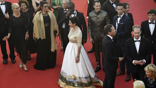 Министр культуры Израиля Мири Регев на церемонии открытия 70-го Каннского международного кинофестиваля