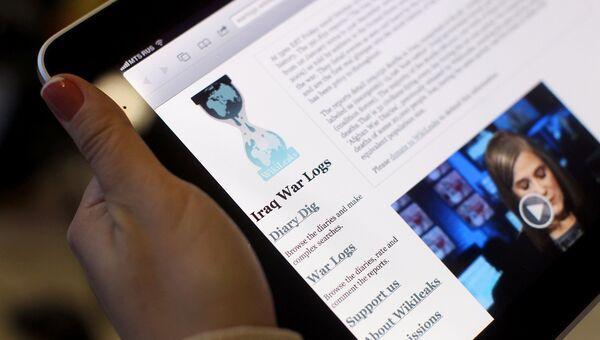 Сайт WikiLeaks. Архивное фото