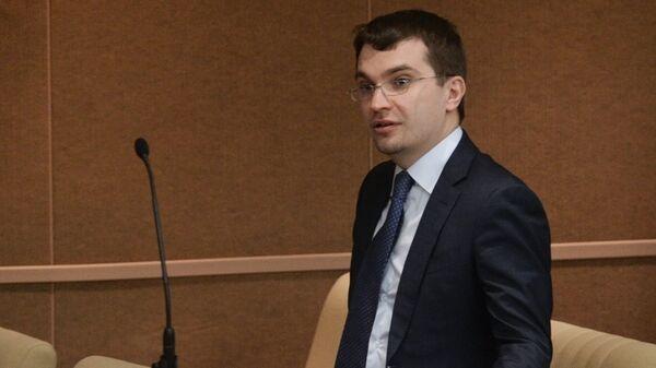 Заместитель министра юстиции РФ Михаил Гальперин на пленарном заседании Госдумы РФ