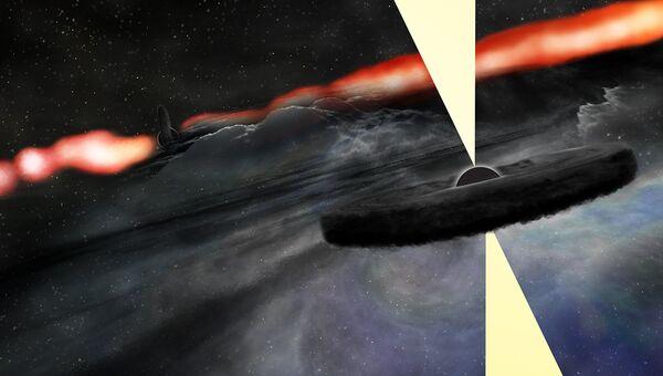 Так художник представил себе сверхмассивную черную дыру