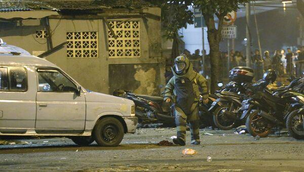 Сотрудник полиции Индонезии. Архивное фото