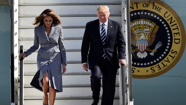 Президент США Дональд Трамп и первая леди Мелания Трамп прибыли в Брюссель