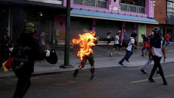 Митинг против президента Венесуэлы Николаса Мадуро в Каракасе