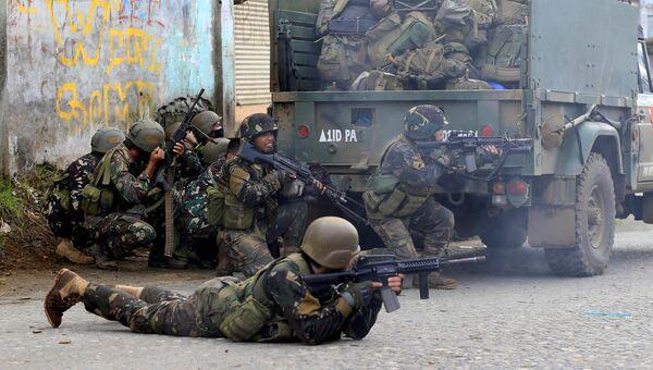 Правительственные войска в городе Марави на юге Филиппин. 26 мая 2017