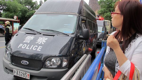 Автомобиль полиции в Шанхае, КНР